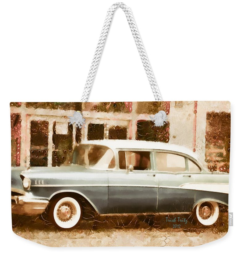 Car Weekender Tote Bag featuring the photograph Dad's Old Car by Trish Tritz