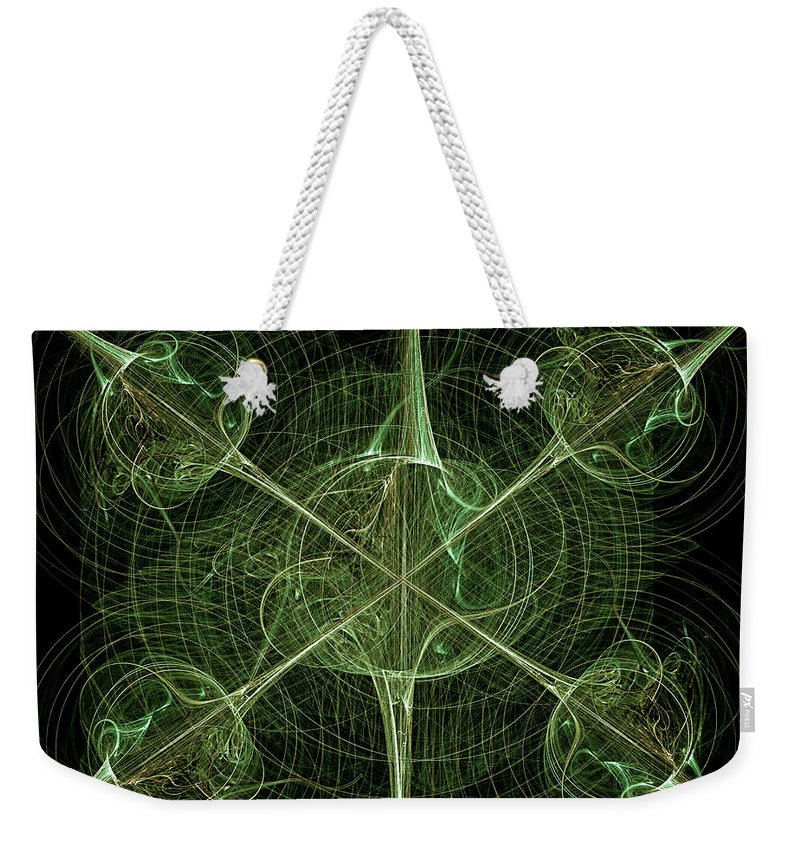 Abstract Weekender Tote Bag featuring the digital art Daggers by Carolyn Marshall