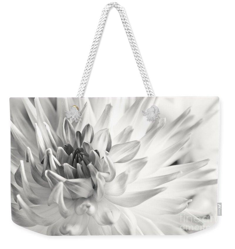 Dahlia Weekender Tote Bag featuring the photograph Dahlia Flower 02 by Nailia Schwarz
