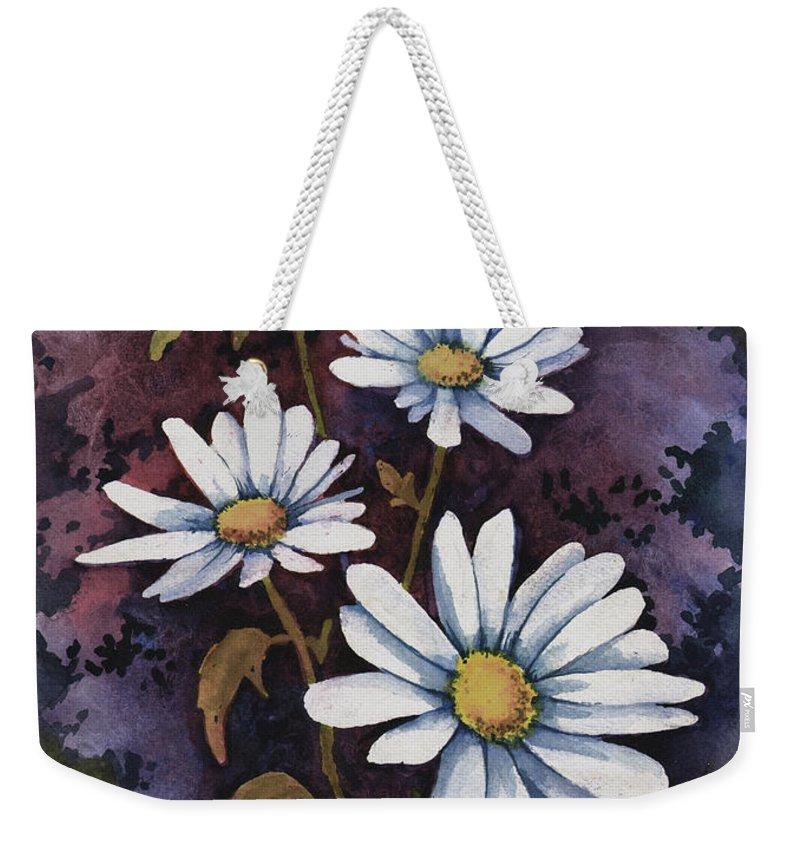 Flowers Weekender Tote Bag featuring the painting Daisies IIi by Sam Sidders