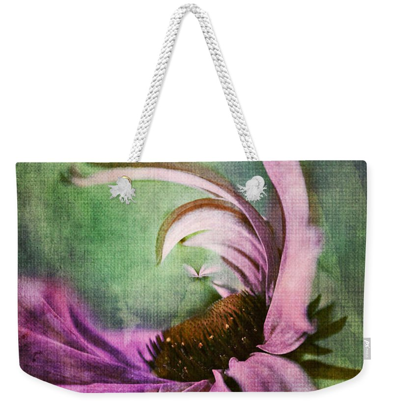Daisy Weekender Tote Bag featuring the digital art Daisy Fun - A01v042t05 by Variance Collections