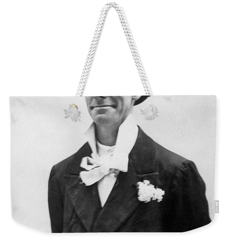 19th Century Weekender Tote Bag featuring the photograph Dan Leno (1860-1904) by Granger