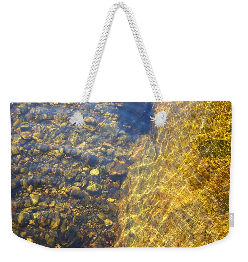 Stones Weekender Tote Bag featuring the photograph Dancing Lines And Stones by Shirley Radebach