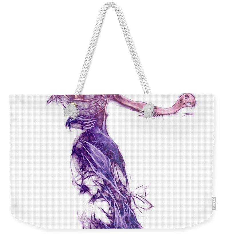 Dance Dancer Dancing Female Male Woman Man Stranger Invisible Expressionism Digital Painting Weekender Tote Bag featuring the digital art Dancing With A Stranger by Steve K