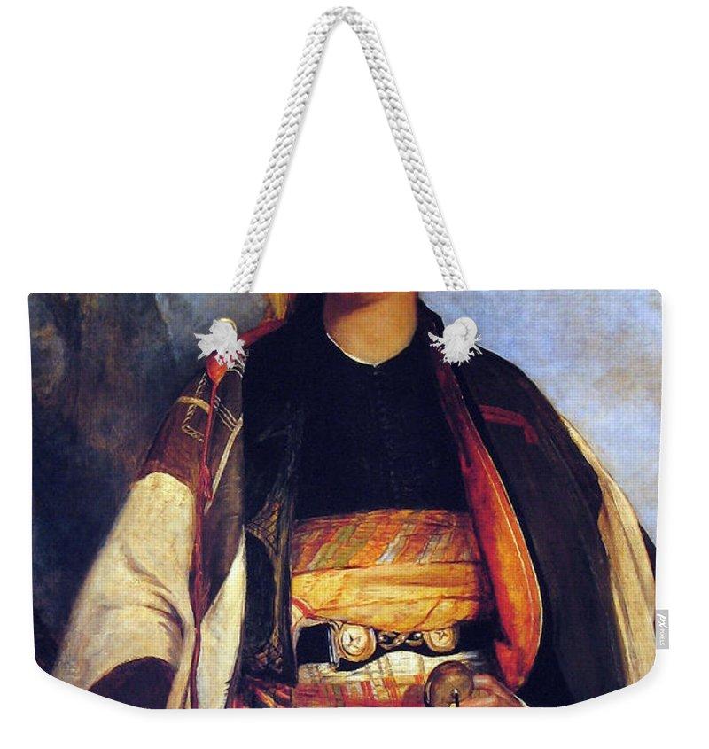 David Weekender Tote Bag featuring the photograph David Roberts In Arabian Dress by Munir Alawi