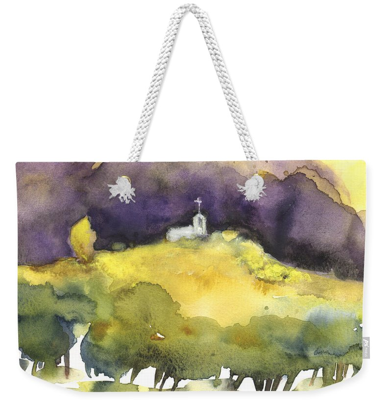 Landscapes Weekender Tote Bag featuring the painting Dawn 23 by Miki De Goodaboom