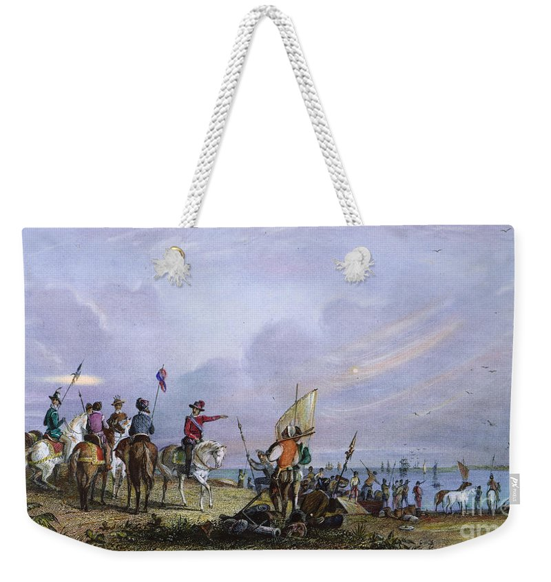 1539 Weekender Tote Bag featuring the photograph De Soto: Florida, 1539 by Granger
