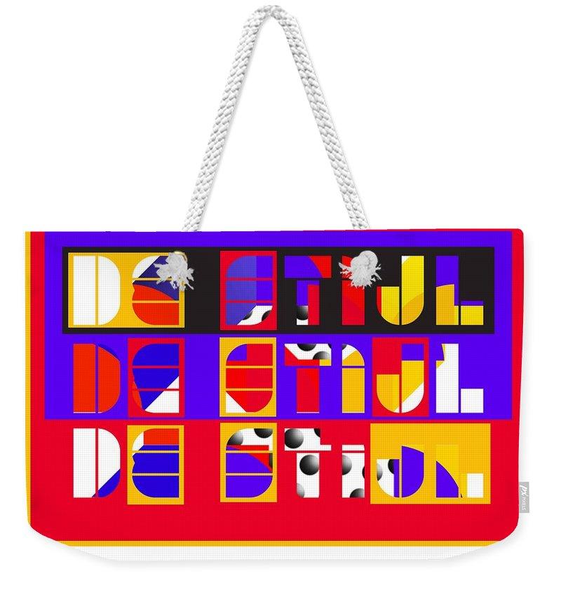 De Stijl Weekender Tote Bag featuring the painting De Stijl by Charles Stuart