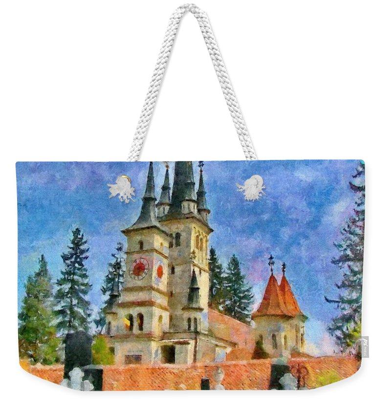 Eastern European Weekender Tote Bag featuring the painting Death And Life by Jeffrey Kolker