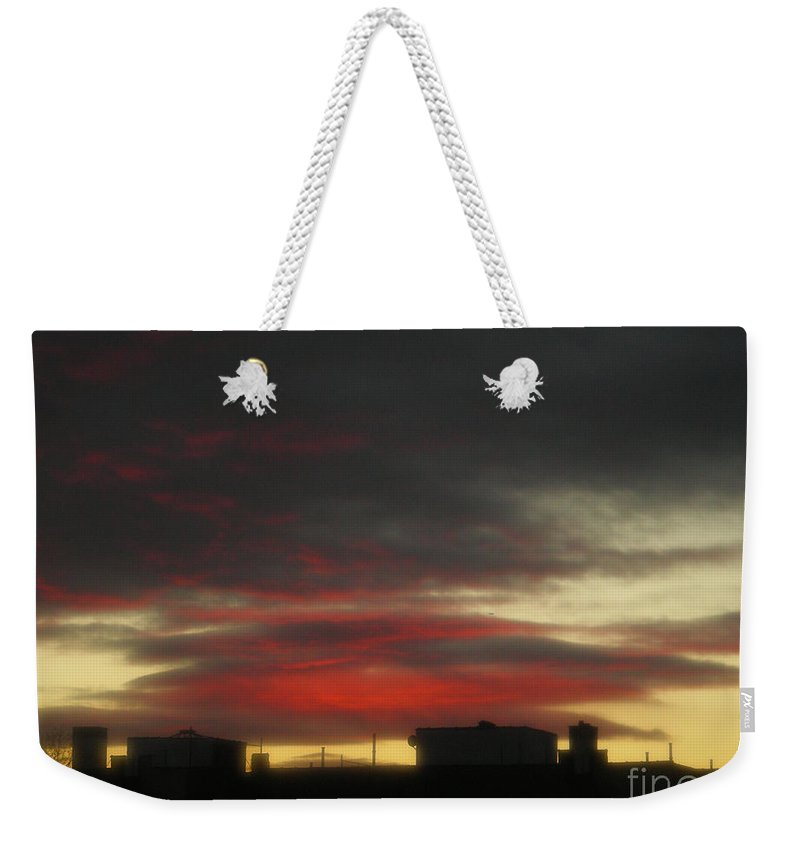 Sunset Weekender Tote Bag featuring the photograph December 21 2009 by Mark Gilman