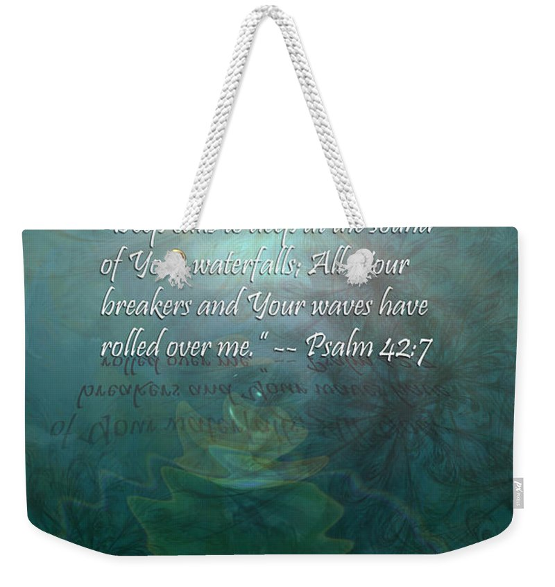 Deep Weekender Tote Bag featuring the painting Deep Calls To Deep by Christopher Gaston