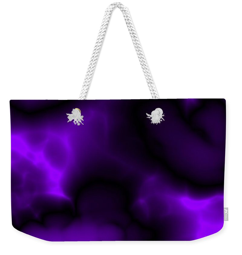 Deep Purple Clouds Weekender Tote Bag featuring the digital art Deep Purple by Christy Leigh