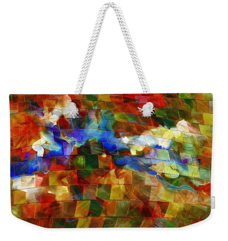 Music Weekender Tote Bag featuring the digital art Dei Miei Bollenti Spiriti by Georgiana Romanovna
