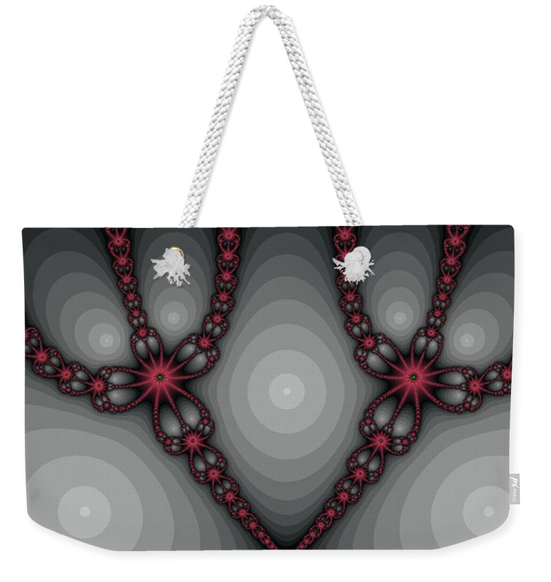 Fractal Weekender Tote Bag featuring the photograph Delicate Red by Mother Nature