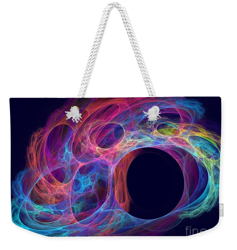 Apophysis Weekender Tote Bag featuring the digital art Delphinus by Kim Sy Ok