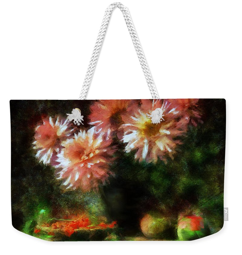 Impressionism Weekender Tote Bag featuring the mixed media Depths Of Tranquility by Georgiana Romanovna