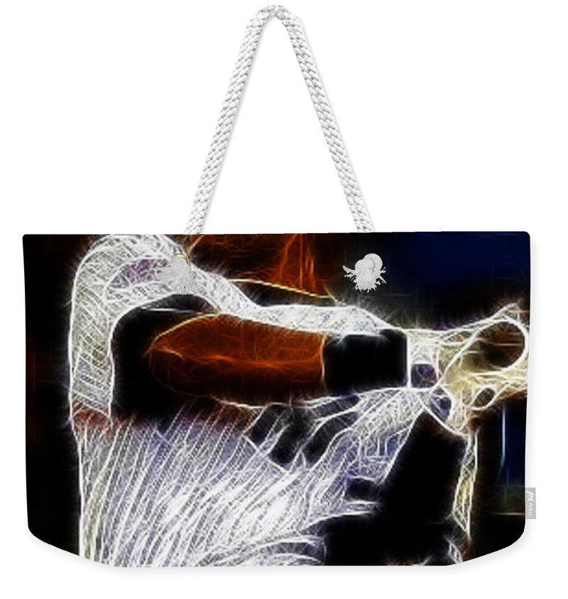 Derek Jeter Weekender Tote Bag featuring the photograph Derek Jeter New York Yankee by Paul Ward