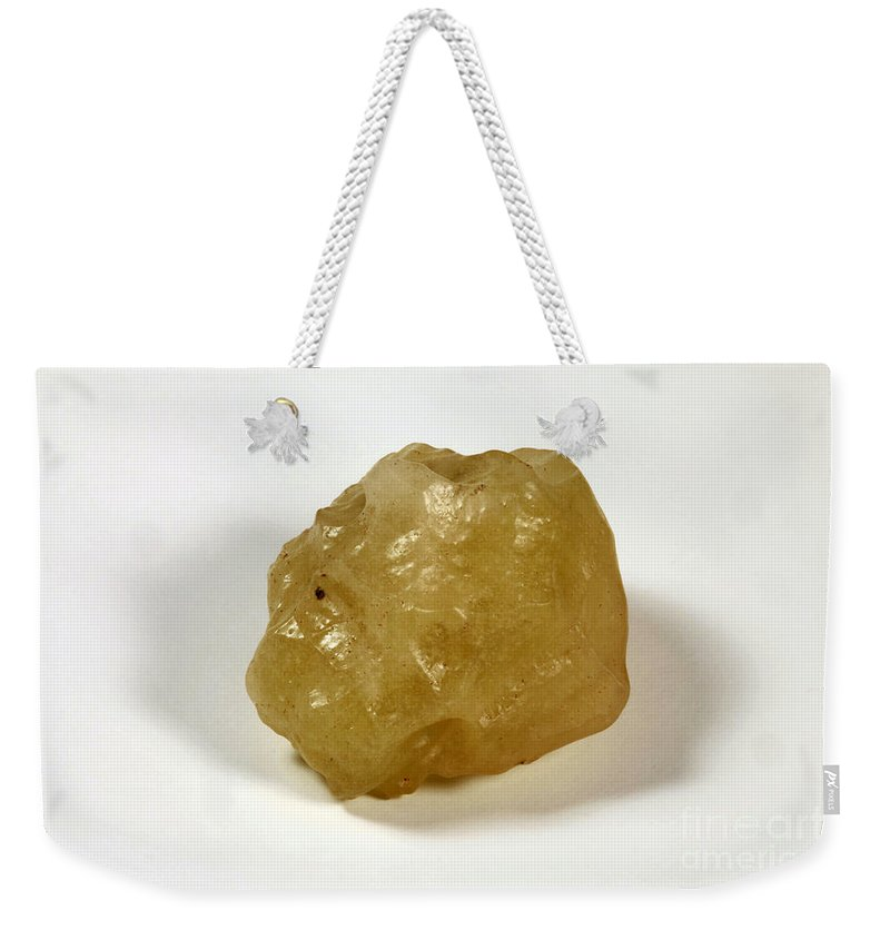 Tektite Weekender Tote Bag featuring the photograph Desert Glass by Ted Kinsman