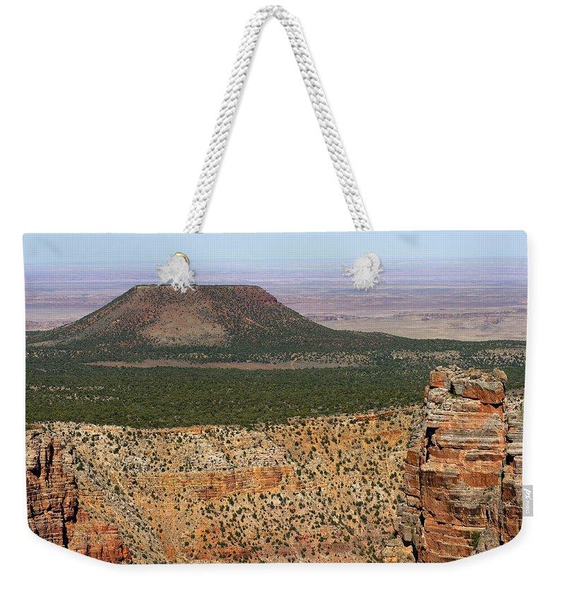 Desert Watch Tower Weekender Tote Bag featuring the photograph Desert Watch Tower View by Julie Niemela