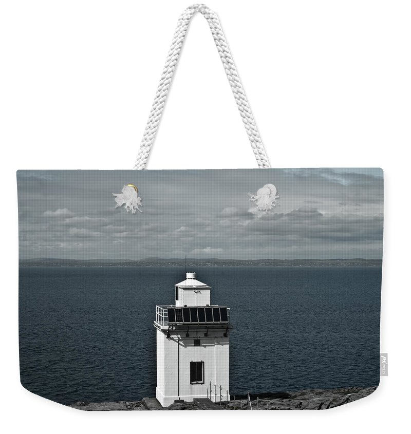 Dingle Weekender Tote Bag featuring the photograph Dingle Peninsula Lighthouse Ireland by Douglas Barnett