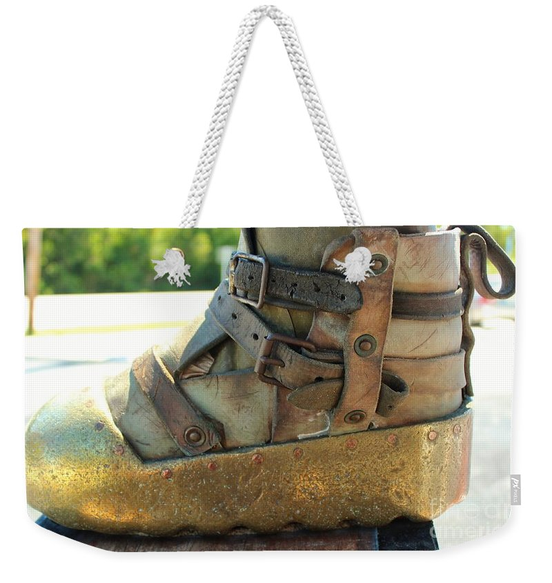 Dive Helmet Weekender Tote Bag featuring the photograph Divers Boot by Rene Triay Photography
