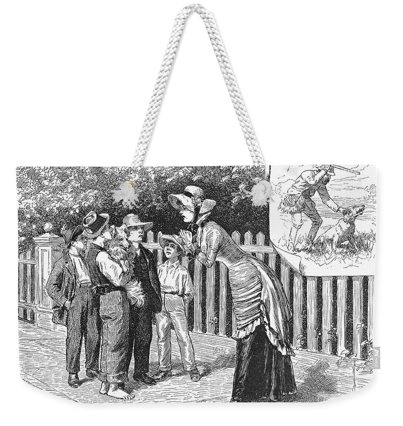 19th Century Weekender Tote Bag featuring the photograph Dogs, 19th Century by Granger