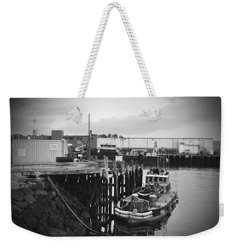 Boat Weekender Tote Bag featuring the photograph Done For The Day by Brittany Horton