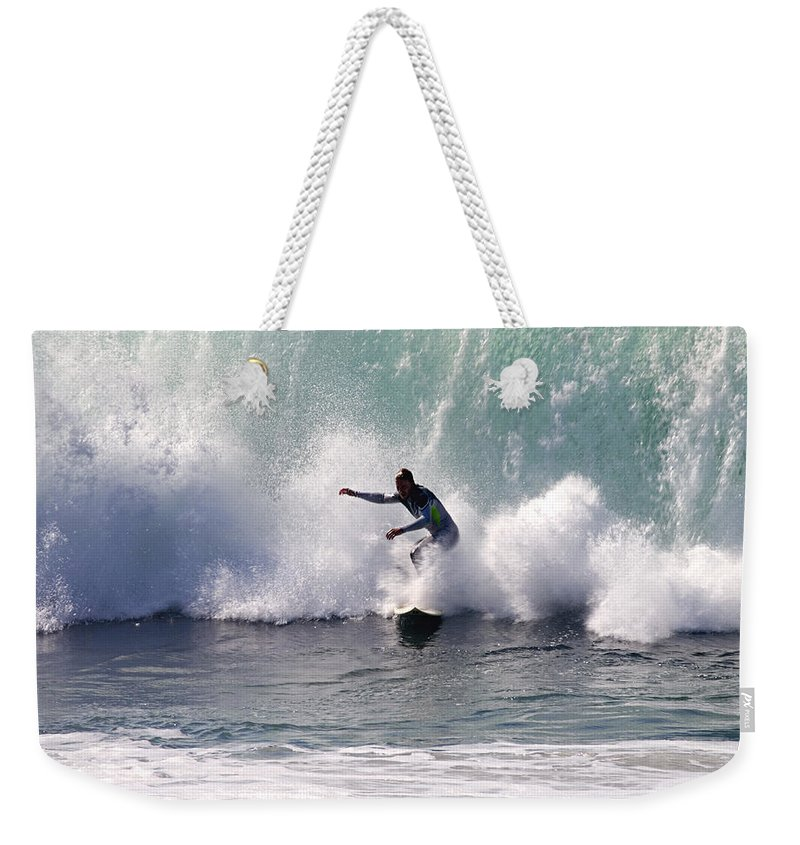 Big Surf Weekender Tote Bag featuring the photograph Dont Look Back by Joe Schofield
