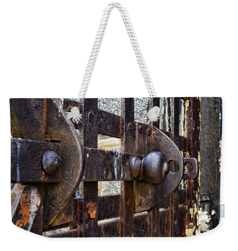 Eastern State Penitentiary Weekender Tote Bag featuring the photograph Door To Death Row by Paul Ward