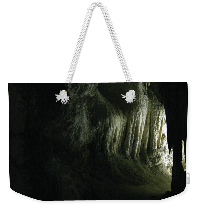 Cave Weekender Tote Bag featuring the photograph Doorway To Wonderland by Alycia Christine