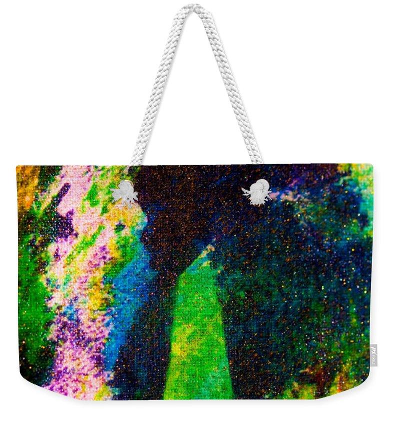 Fine Oil Pastel Painting Weekender Tote Bag featuring the painting Doorways by Marie Jamieson