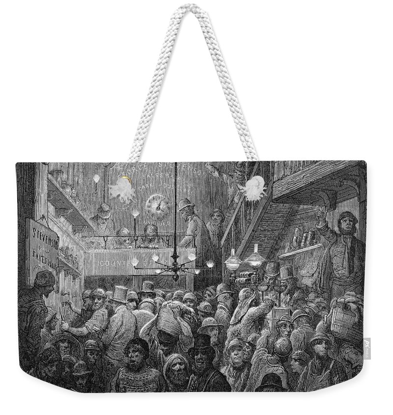 1872 Weekender Tote Bag featuring the photograph Dore: Billingsgate, 1872 by Granger