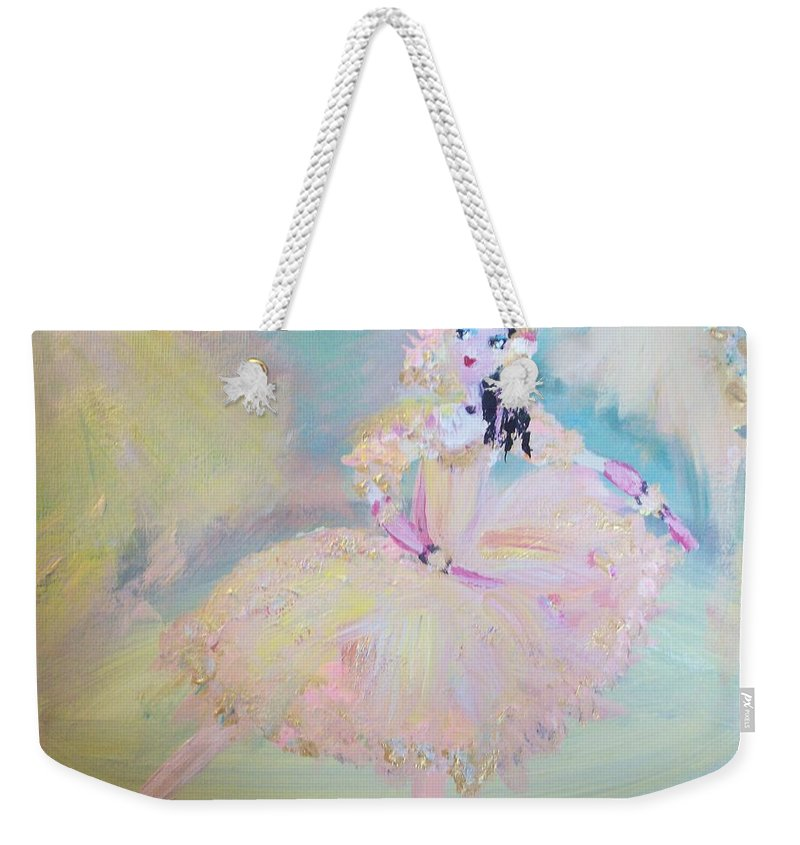 Dance Weekender Tote Bag featuring the painting Dorothy Dancer by Judith Desrosiers