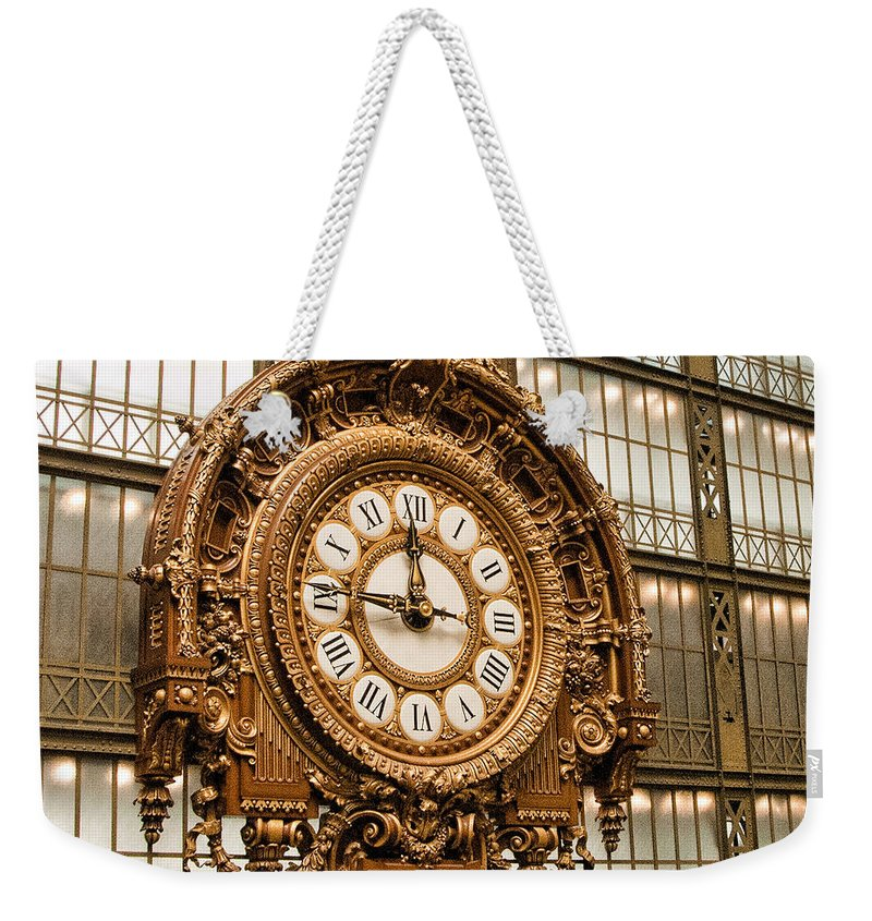 D'orsay Museum Weekender Tote Bag featuring the photograph Dorsay Museum Paris France by Jon Berghoff