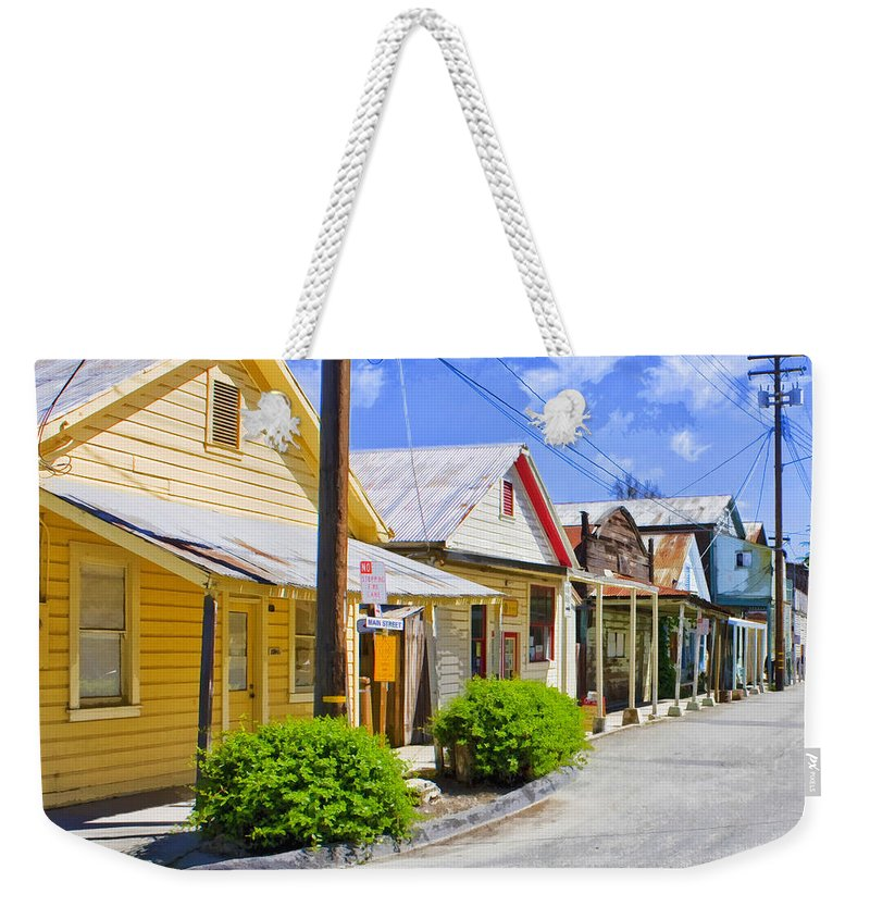 Main Street Weekender Tote Bag featuring the mixed media Down On Main Street by Dominic Piperata