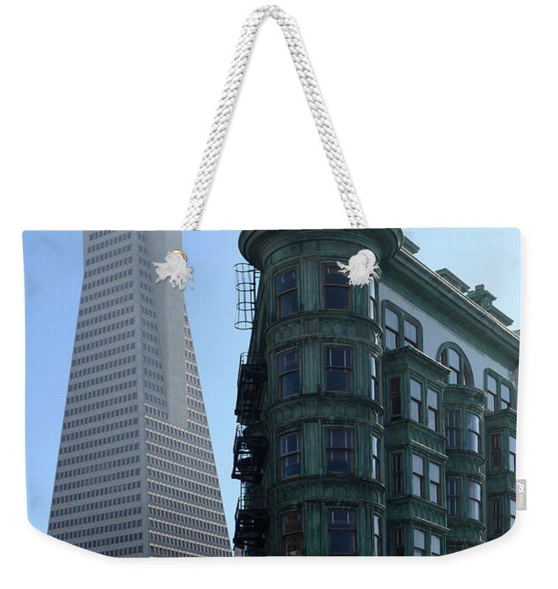 San Francisco Weekender Tote Bag featuring the photograph Downtown San Francisco 2 by Bob Christopher