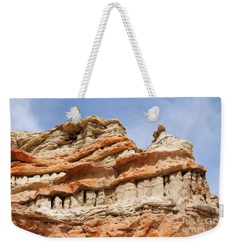 Red Rock Canyon Weekender Tote Bag featuring the photograph Dragon Smile by Vivian Christopher
