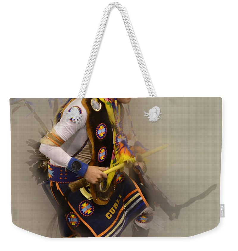 Pow Wow Weekender Tote Bag featuring the photograph Pow Wow Dream Time by Bob Christopher