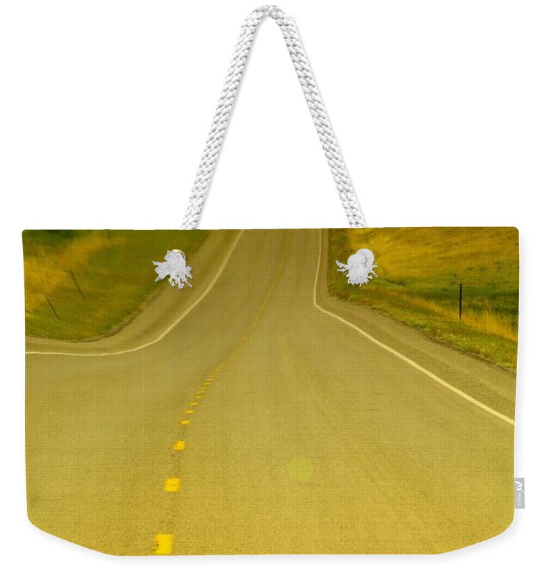 Roads Weekender Tote Bag featuring the photograph Dreaming Up A Curve by Jeff Swan