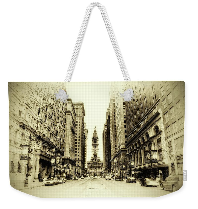 Philadelphia Weekender Tote Bag featuring the photograph Dreamy Philadelphia by Bill Cannon