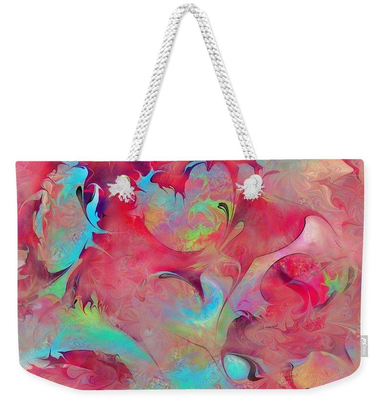 Dreams Weekender Tote Bag featuring the digital art Dreamyland by Rachel Christine Nowicki