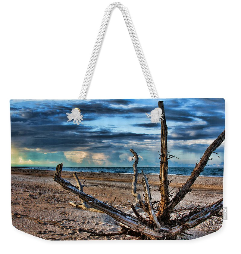 Driftwood Weekender Tote Bag featuring the photograph Driftwood V2 by Douglas Barnard
