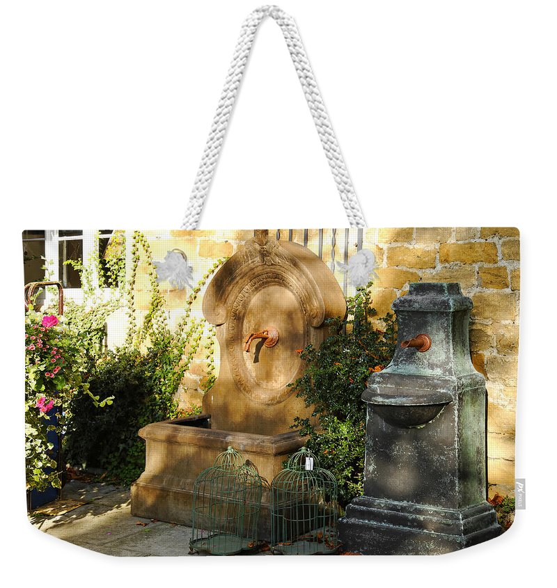 Britain Weekender Tote Bag featuring the photograph Drinking Fountains For Sale - Broadway by Rod Johnson