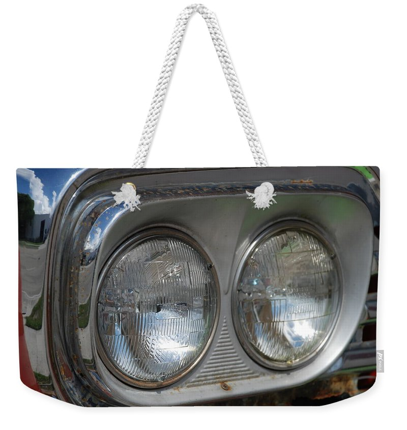 Head Lights Weekender Tote Bag featuring the photograph Duel Lights by Rob Hans
