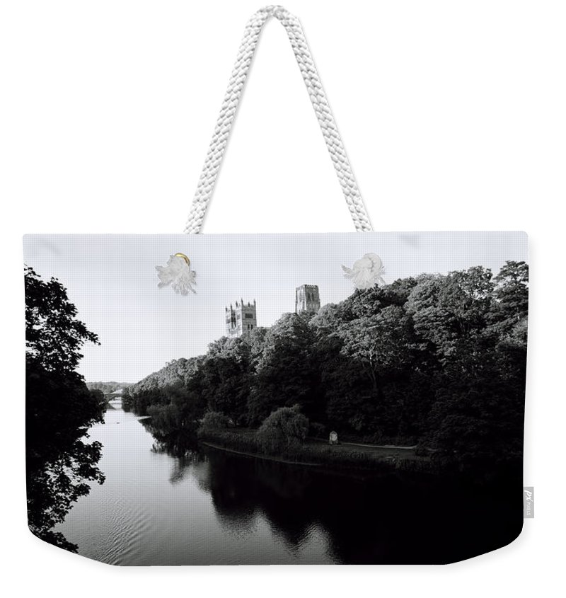 Inspiration Weekender Tote Bag featuring the photograph Durham Cathedral by Shaun Higson