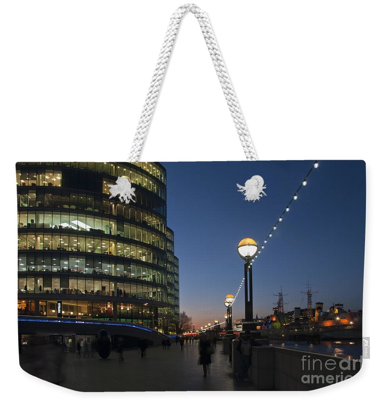 Britain Weekender Tote Bag featuring the photograph Dusk In London by Andrew Michael