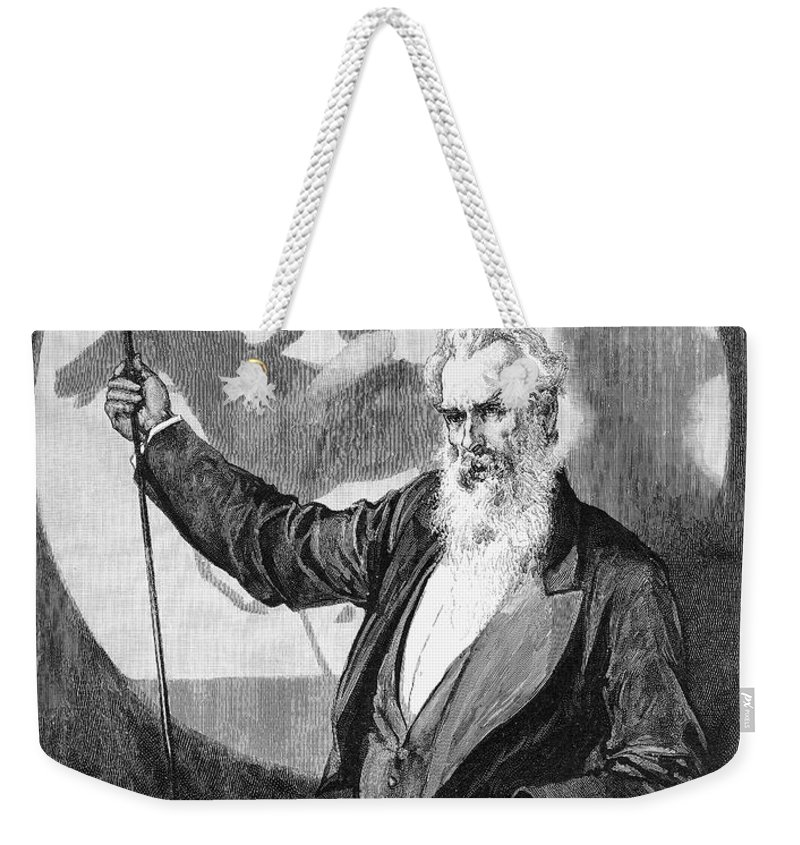 1889 Weekender Tote Bag featuring the photograph Eadweard Muybridge by Granger