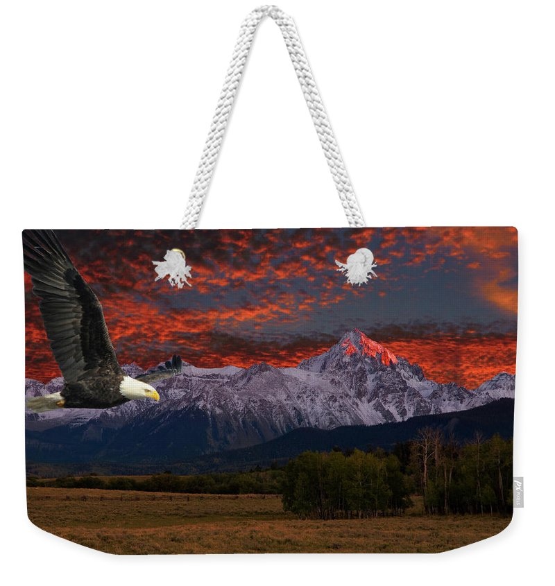 Eagle Weekender Tote Bag featuring the photograph Eagle Fantasy by Steve Stuller