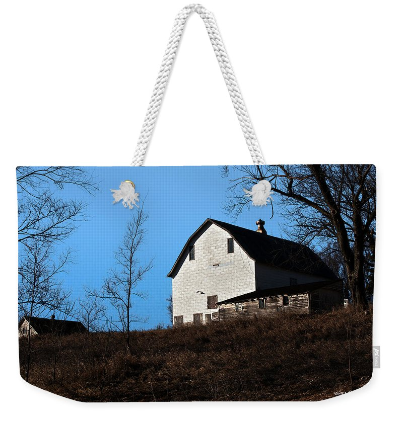 Barn Weekender Tote Bag featuring the photograph Early Morning Barn by Edward Peterson
