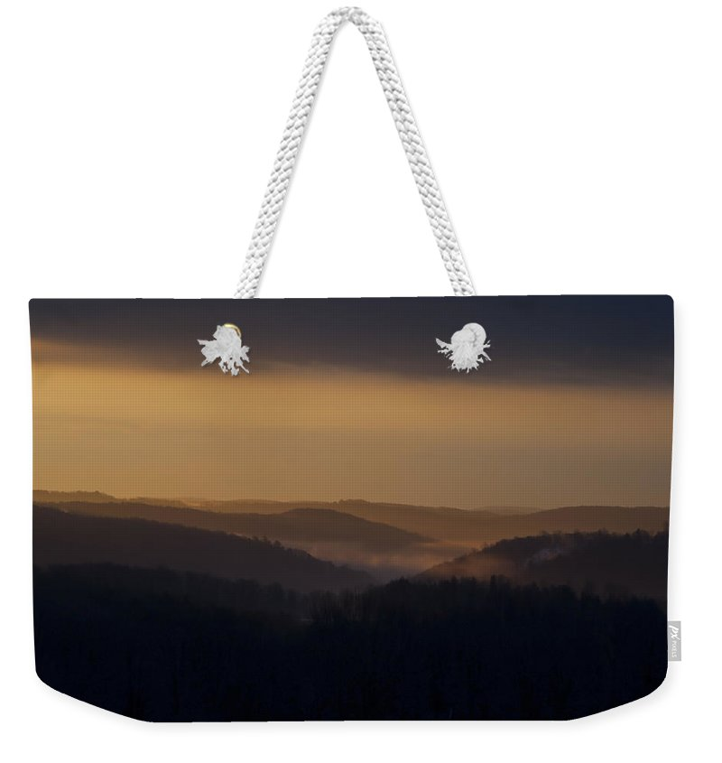 Sunrise Weekender Tote Bag featuring the photograph Early Morning Sunrise by Frank Morales Jr